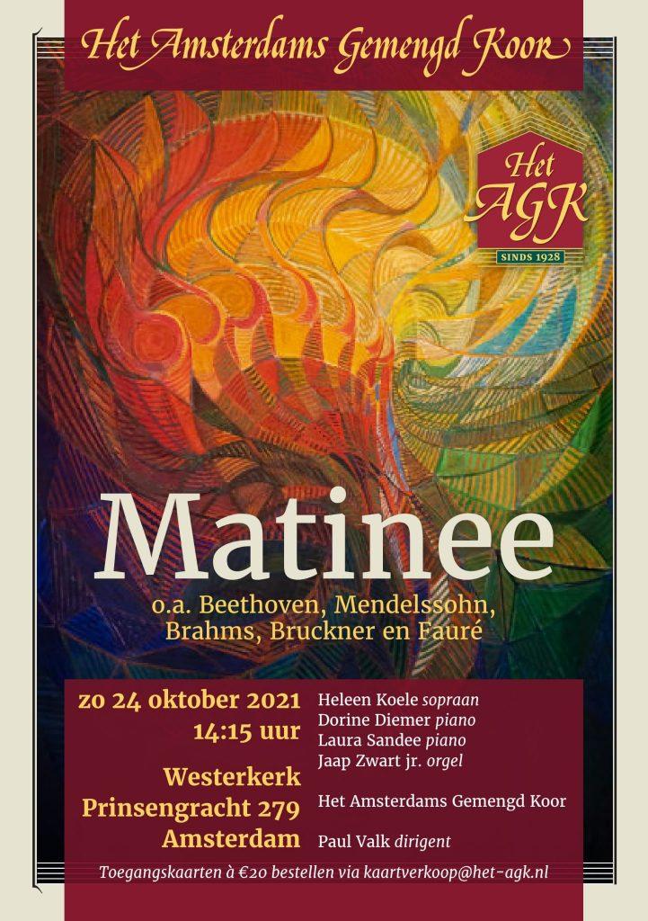 """poster van concert """"Matinee"""""""